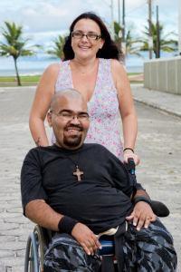 Jackson Paula com sua esposa Rita